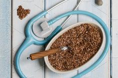 Flax seeds and stethoscope.  by BREATING NATURE on @creativemarket