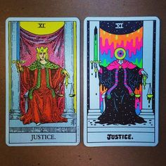 Still going on the tarots! Here is Justice. Many more to go but...