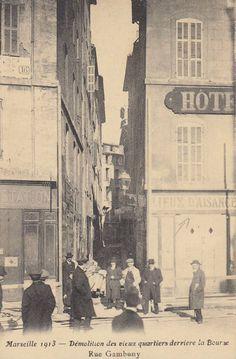 Exposition « les banlieues de Marseille en cartes postales anciennes » - Photimages...d'hier et d'aujourd'hui France, Rue, Paris, Times Square, Painting, Centre, Antique Post Cards, Antique Pictures, Marseille