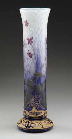Daum vase, late 19th to early 20th century