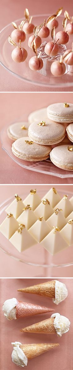 Peach Metallic desserts