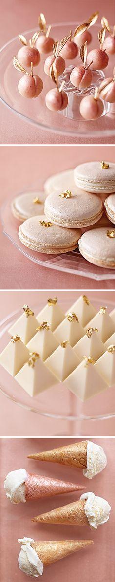 Peach Metallic desserts