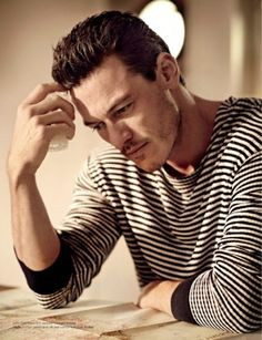 """take-me-to-your-lieder: """" Lord above, Luke Evans has just made me gayer than I ever thought possible. Luke Evans, Hot Actors, Actors & Actresses, Miss Saigon, Taylor Kitsch, Karl Urban, Joe Manganiello, Raining Men, How To Pose"""
