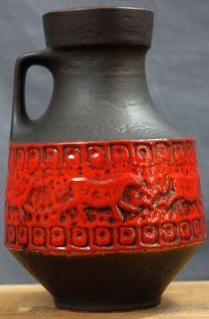 Mid Century Fat Lava Carstens Form 158 30 XL Vase Very Good Condition | eBay