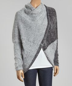 Look at this COIN 1804 Gray Eyelash-Knit Hooded Sweater on #zulily today!
