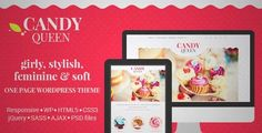 Download and review of Candy Queen - Responsive Multi-Purpose OnePage WordPress Theme, one of the best Themeforest Creatives themes
