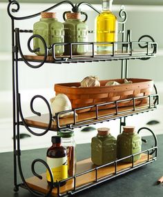 Stand it on the counter, hang it on the wall or fold-away for easy storage – our new Spice Rack is as versatile as the spices it hold Kitchen Items, Kitchen Decor, Kitchen Design, Iron Furniture, Steel Furniture, Kitchen Organisation, Kitchen Storage, Woodworking Desk Plans, Woodworking Machinery