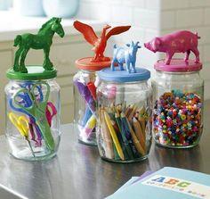 Idea para ordenar cuarto de niños