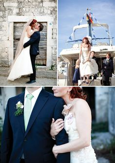 boat wedding.Los Angeles Yacht Charter. Add signal flags to spell there names.