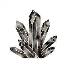Modern Crystal Print Geometric Watercolor Diamond Art Print Minimal Artwork Minimalist Home Decor Black and White Print Quartz Crystal Art by GeometricInk on Etsy https://www.etsy.com/listing/169645439/modern-crystal-print-geometric