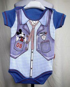 Mickey Mause Baby Kurzam  Body - Babybody für Junge Gr. 74 /BBJ8/