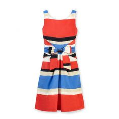 bright, happy colors with a slightly ethnic print look great on Sag. (Kate Spade Striped Jillian.)