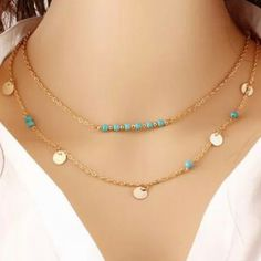Boho Turquoise Gypsy Necklace. Just a little bit of modern hippie flare! Only $3.99
