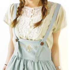 mori girl skirt with suspenders