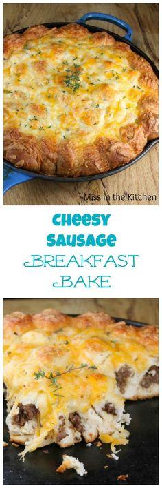 Cheesy Sausage Breakfast Bake Recipe from MissintheKitchen #ad  See more http://recipesheaven.com/paleo