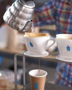 Pour-through coffee makes me think of Koren :)  This picture taken at Blue Bottle Coffee in New York