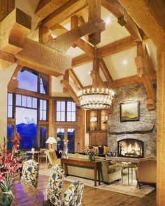 Missouri Heights custom timber frame home Rudd Construction of Basalt CO.