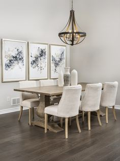 This is the dining room in the Tweed bungalow model home in Russell Trails. It boasts a vaulted ceiling. This home is square feet and is built on a wide lot. Organising Tips, Organisation Hacks, Dining Room, Dining Table, Model Homes, Square Feet, Bungalow, Tweed, Ceiling