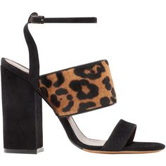 768ff2ed05c Pre-owned Casadei Leopard Print T-Strap Sandals ( 125) ❤ liked on ...