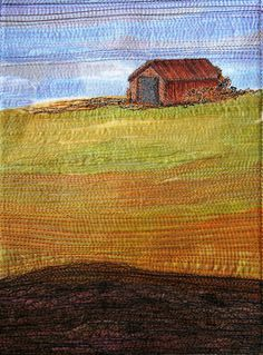 Everyman's Barn IV by the blue hare, via Flickr (Bucket  list- make a quilt from a picture!)