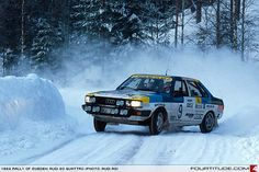 Audi 80 quattro rally car. Photo by Audi AG.