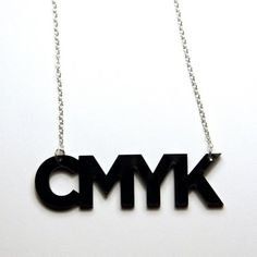 CMYK necklace by plastique