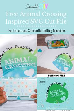 Download your FREE Animal Crossing inspired SVG cutting file that can be used with your Cricut or Silhouette Cameo. Create the t0shirt using Cricut Infusible Ink Transfer Sheets and iron-on vinyl. Silhouette Projects, Silhouette Cameo, Animal Crossing Characters, Ink Transfer, Iron On Vinyl, Svg Cuts, Cricut Design, Cutting Files, Free Design