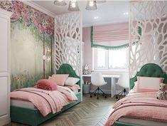 Marvelous 17 Beegcom Home Decor Toronto, Best Interior Design Colleges In Ahmedabad Kids Bedroom Designs, Cute Bedroom Ideas, Room Ideas Bedroom, Kids Room Design, Bedroom Decor, Twin Girl Bedrooms, Interior Design Colleges, Home Decor Trends, Best Interior