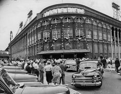 Fans outside All-Star game at Ebbets Field on July 12, 1949