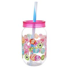Disney Characters Tsum Tsum Candy Collection Tumbler with straw