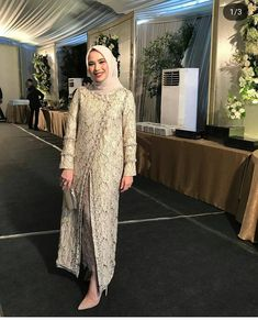 Kebaya Modern Hijab, Model Kebaya Modern, Kebaya Hijab, Dress Brokat Muslim, Dress Brokat Modern, Kebaya Muslim, Hijab Gown, Hijab Dress Party, Hijab Style Dress