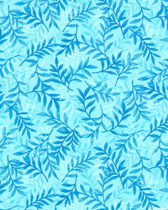 Fusions Garden - Overlapping Fronds - Lt Blue