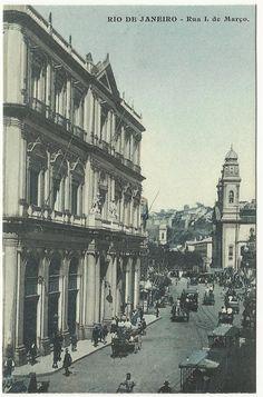 RUA PRIMEIRO DE MARÇO, RIO DE JANEIRO. POSTCARD BY MARCFERREZ (1910'S)