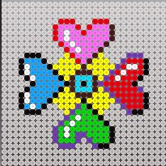 Perler bead heart design pattern