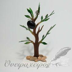 Συμβολικό δώρο για νέο σπίτι,Χειροποίητη δέντρο ελιάς από μπρούντζο και χυτό γυαλί