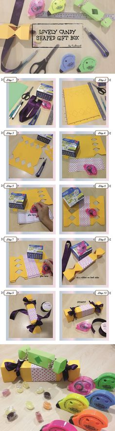 """What a creative idea to put candies in a candy shaped box! Kids will be thrilled when they receive these big """"candies"""" from you! :) These lovely gift boxes are also great for holding small gifts."""