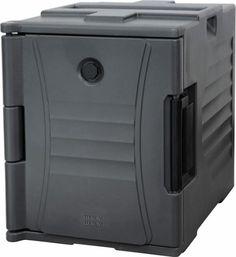 Thermobehälter, TBC-6, grau Extrastarke Türschaniere und Türschliesser. 2 Stk. praktische ausklappbare Tragegriffe. Ideal für die Lagerung und den sicheren Transport. Geeignet für bis zu 12 GN-Behälter, 1/1 Nutzinhalt: 90 lt., die Behälter sind stapelbar. Innenabm.: 33,5 x 53,3 x 49 cm (BxTxH) Aussenabm.: 47,7 x 68 x 62 cm (BxTxH) Pizza, Gray