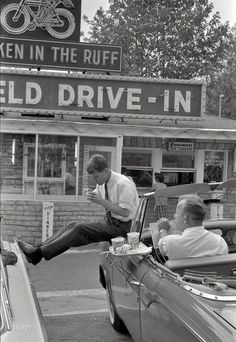 Bobby Kennedy taking a break from brother John's 1960 presidential campaign