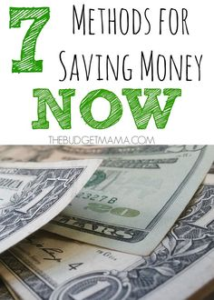 Need to save money now? Try on of these seven quick and easy to implement methods to save you more money. best money saving tips #SaveMoney #Money