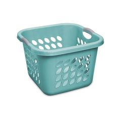 Sterilite 1.5 Bushel Square Ultra Laundry Basket, Teal Splash, Case of... ($19) ❤ liked on Polyvore featuring home, home improvement and storage & organization