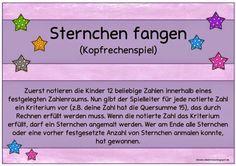 "Ideenreise: Kopfrechenidee ""Sternchen fangen"""
