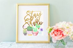 Stay Sharp Watercolo