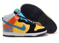 Man Nike Dunk SB High  Black-Yellow  312786 741