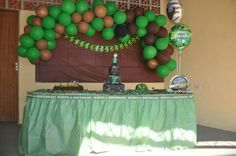 Army theme - kids bday party
