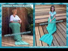 How to Crochet an Adult Mermaid Afghan - YouTube