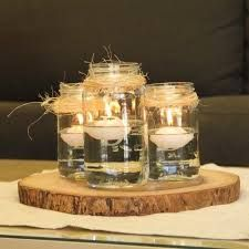 Image result for winter wedding jam jar decorations