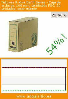 Fellowes R-Kive Earth Series - Caja de archivos, 100 mm, certificado FSC, 20 unidades, color marrón (Productos de oficina). Baja 54%! Precio actual 22,96 €, el precio anterior fue de 50,05 €. https://www.adquisitio.es/fellowes/r-kive-earth-series-caja