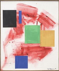 Polyhymnia by Hans Hofmann, 1963 Oil on Canvas, Abstract Expressionist Painting #hanshofmann #abstract #abstractexpressionism