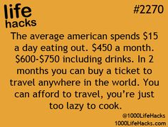 Save money by eating at home!