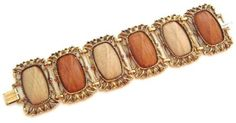 Photo: FABULOUS chunky 50's simulated wood bracelet (thermoplastic). $40 FREE shipping in the US. Questions? PM me via FB. PayPal Only.